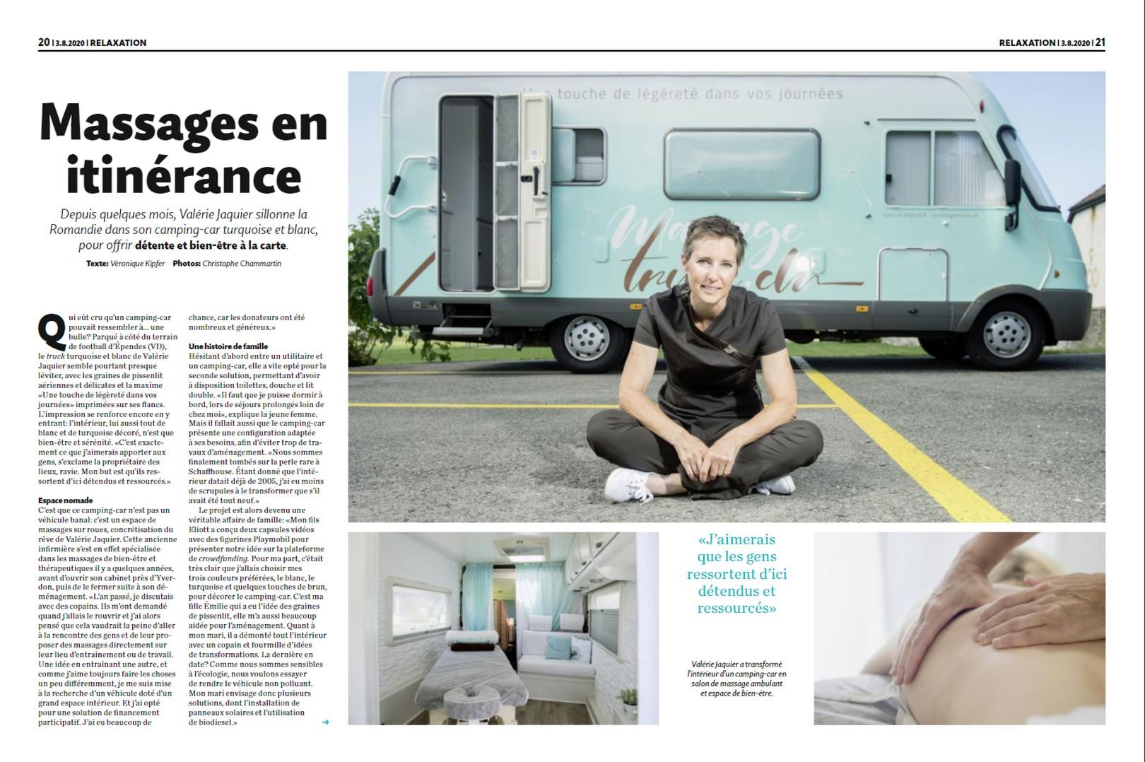 Article dans le Migros Magazine